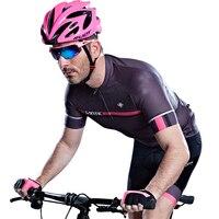 Santic hommes cyclisme court jersey pro fit santic n-sentir antidérapant manches manchette vélo de route vtt à manches courtes équitation chemise m7c02107g