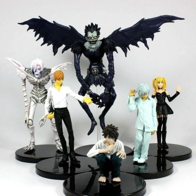 6 Pcs Death Note Light Amane Misa Ryuk L Rem Nate River Pvc Figure