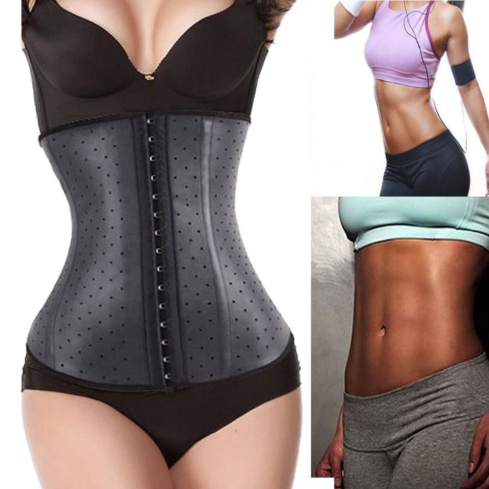a229f3cd5 2016 Luxury Latex Waist Trainer Hot Body Shaper Waist Cincher ...