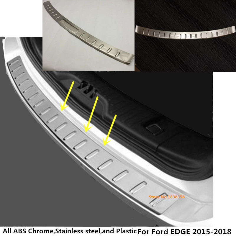 Pour Ford EDGE 2015 2016 2017 car styling acier Inoxydable Retour Arrière Pédale Porte Plat D'usure en dehors du Cadre de Seuil Tronc