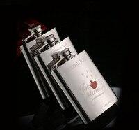 Mini Portable Stainless Steel Hip Flask 4 oz Wedding Bridesmaid Best Man Gift Travel Whiskey Alcohol Liquor Metal Bottle Flagon