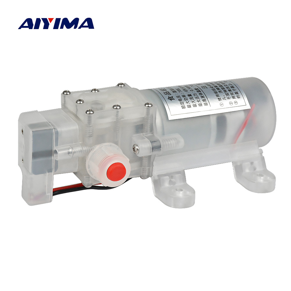 Aiyima Micro Food Grade Diaphragm Pump DC12V 24V 70W 6L/Min Self-priming Electric DC Booster Water Pumps With Switch спортивный пуховик kappa k0272yy54