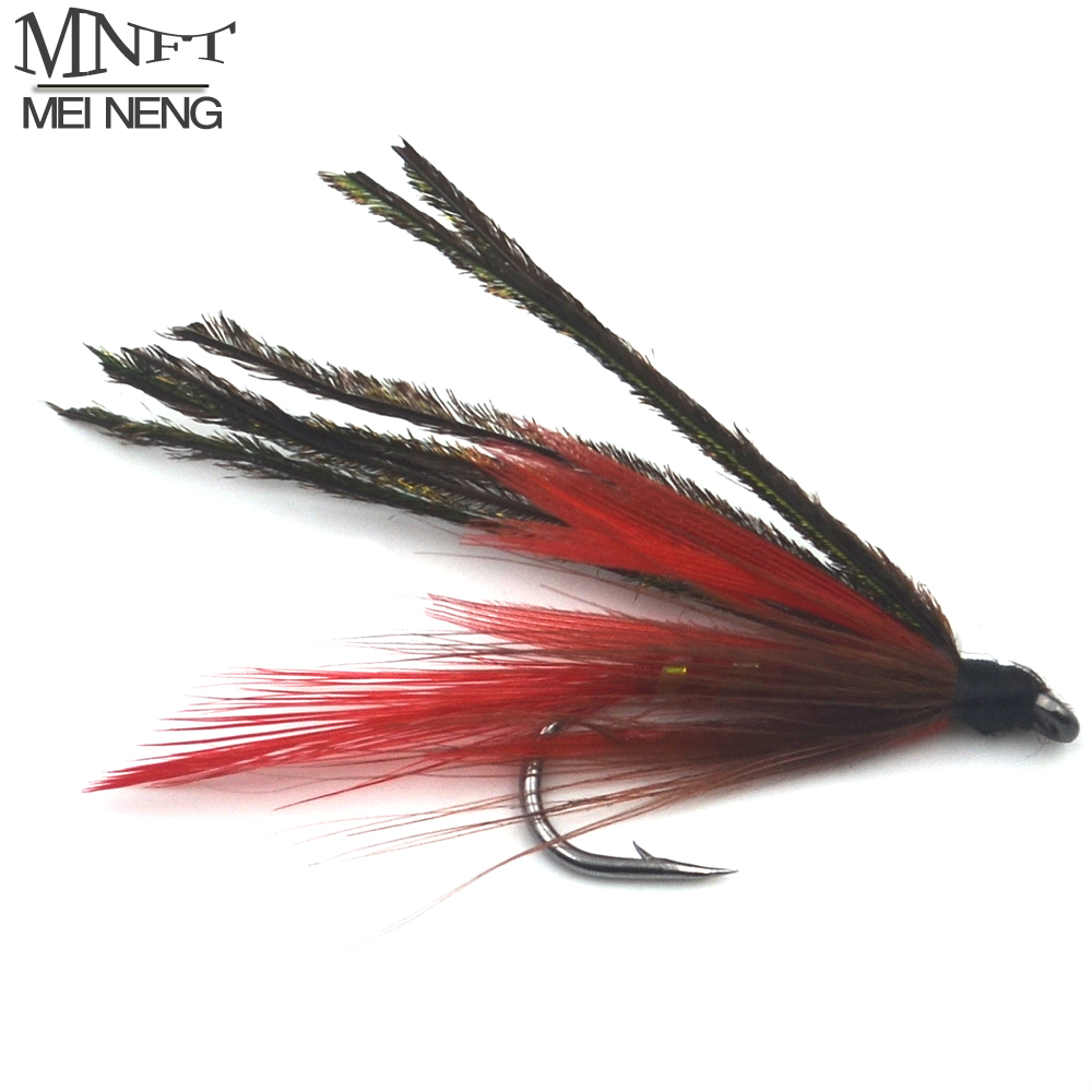 MNFT 10PCS 7 # Red Peacock Demon Herl Streamer Fly Trout ...