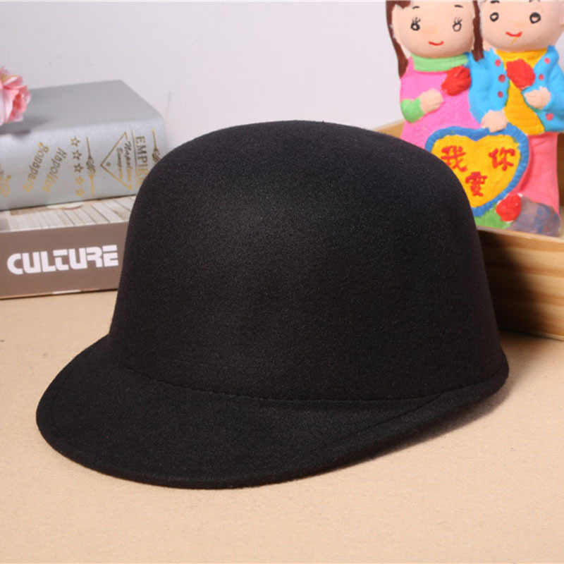 b9594d5c1c7 2019 New Arrival Vintage Winter Fedoras Hat for Female Equestrian Cap Women  Cap Elegant Lady Girls