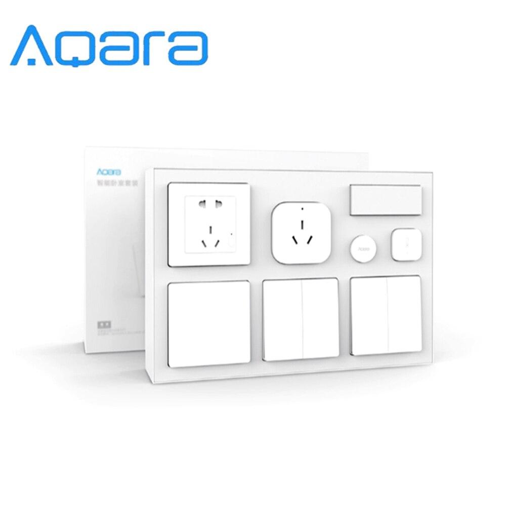 Aqara Smart Home Control climatiseur Mate + capteur de température et d'humidité + capteur de corps + prise murale + interrupteur mural