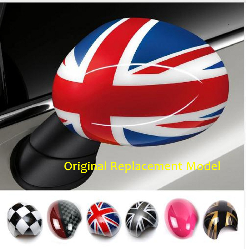 Outside Door Rearview Mirror Decoration Protector Shell Cover Housing For Mini Cooper One S JCW F56 F55 Car-styling Accessories union jack interior rearview mirror cover cap shell abs plastic decor for bwm mini cooper jcw s one f54 f55 f56 f60 countryman