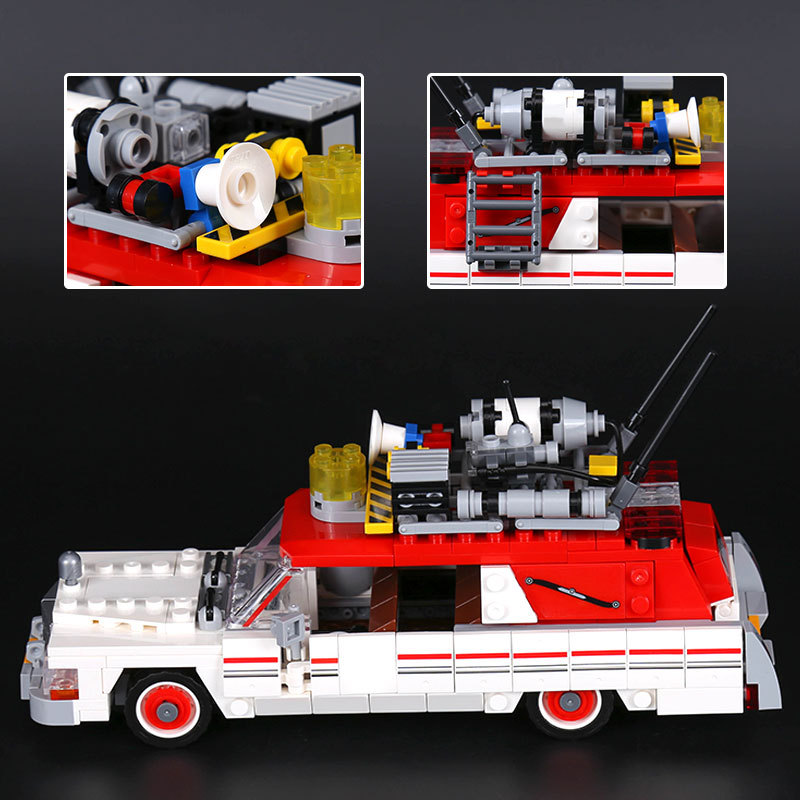 586pcs Lepin 16032 Movie Series The Ghostbusters Ecto1&2 Set Kids Educational Building Blocks Bricks Toys Gifts Compatible 75828 lepin 16032 586pcs new genuine movie series the ghostbusters ecto 1