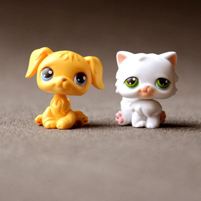 2pcs Original Pet Shop Action Figures Toy Puppy Dog Model Doll 4.5cm 10pcs bag toy bag small pet shop figures toys animal cat dog patrulla canina action figures kids toys gift