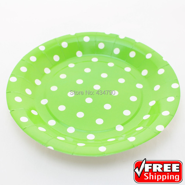 60pcs 9 Round Green Paper Plates White Polka Dot Wedding Children  sc 1 st  Best Image Engine & Terrific Green Polka Dot Plates Images - Best Image Engine ...