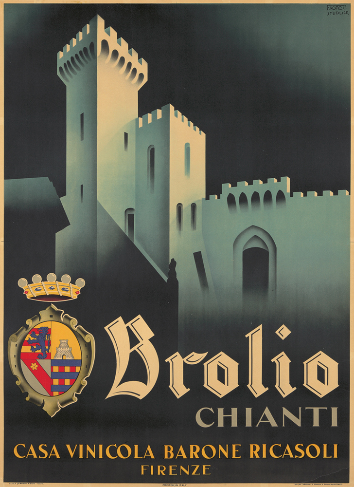 Retro Advertising Posters Brolio Chianti 1938 Beer Ads Classic Wall Stickers Canvas Painting Vintage Poster Home Bar Decor Gift In From