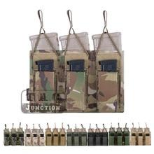 حقيبة إيمرسون التكتيكية الثلاثية المفتوحة 5.56 & مسدس مجلة الحقيبة ايمرسونجير مول/PALS ماج الحقيبة الحافظة الناقل Airsoft العسكرية
