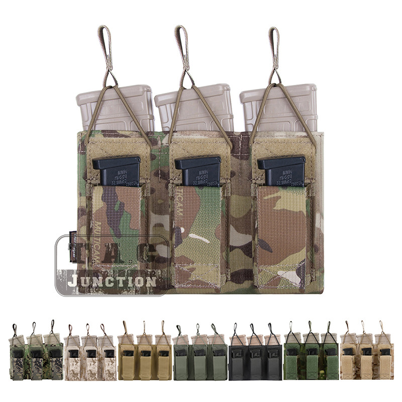 Emerson Tactical Triple Open Top 5.56 & Pistol EmersonGear MOLLE / PALS Magazine Mag Pouch Holster Mag Carrier Airsoft Military