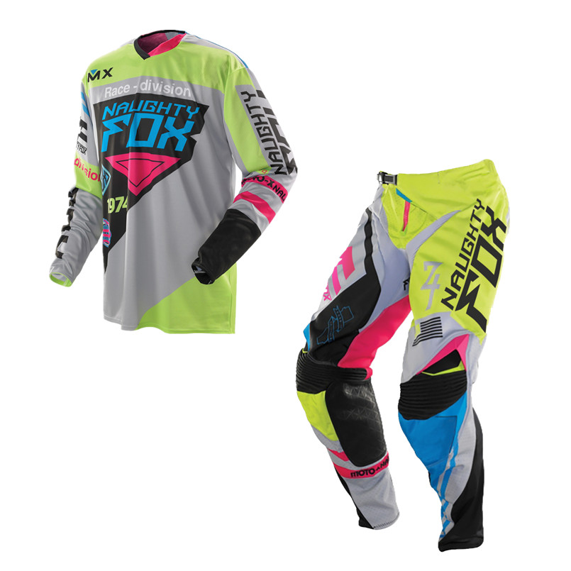 3 Colors MX MTB DH Downhill Off Road Motocross kit 360/180 Moto Racing Combos Cross-country Jersey Pants Plus Size
