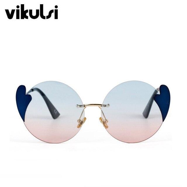 0b74ffe979db Heart Round Oversized Sunglasses Vintage Women Men Brand Designer Luxury  Female Shades 2018 New Fashion Sexy