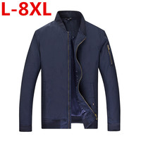 2017 Large Plus Size 8XL 7XL 6XL 5XL 4XL Spring Jacket Men Waterproof Autumn Thin Slim