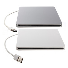 Super Slim External USB 2.0 Slot-in DVD RW Enclosure Case 9.5mm/12.7mm SATA Superdrive Optical Drive