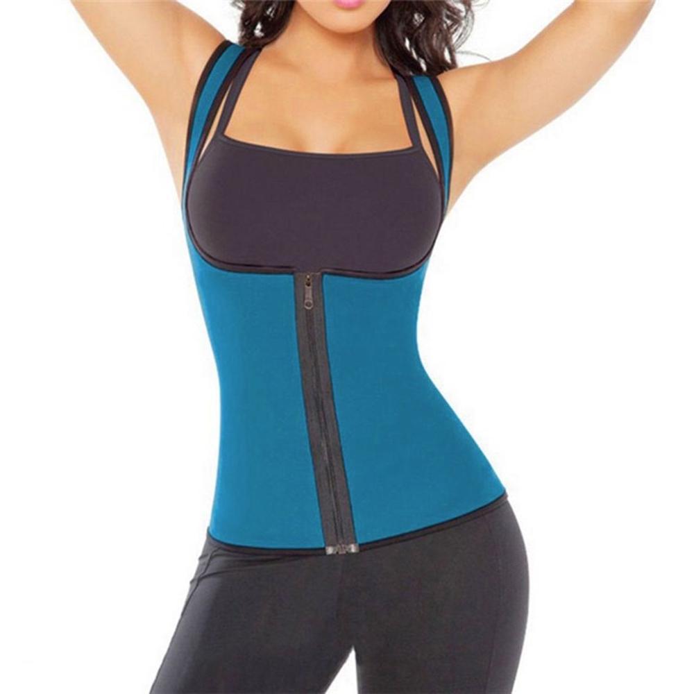 eebfb57b26 Dropwow Plus Size Hot Body Shapers Vest Neoprene Sweat sauna Waist ...