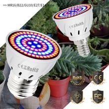 CanLing GU10 Светодиодный 220В растительный светильник E14 лампа для выращивания E27 фитолампия MR16 Фито лампа светодиодный 3 Вт полный спектр внутреннего гидропоника, шатер для выращивания