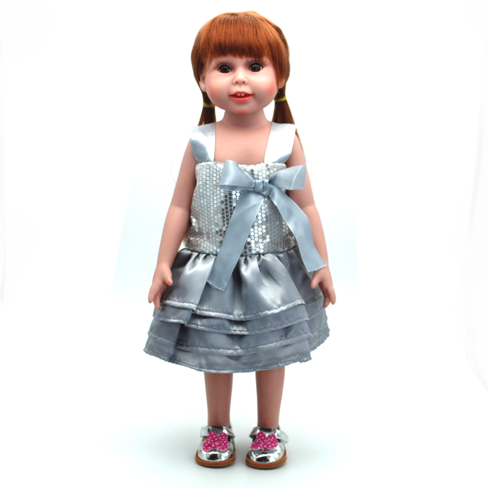 NicoSeeWonder 18 Inch Bonecas Bebe Reborn Baby Dolls Full Silicone Reborn Toddler Toys Girl With Kinds Clothes Kit Accessories