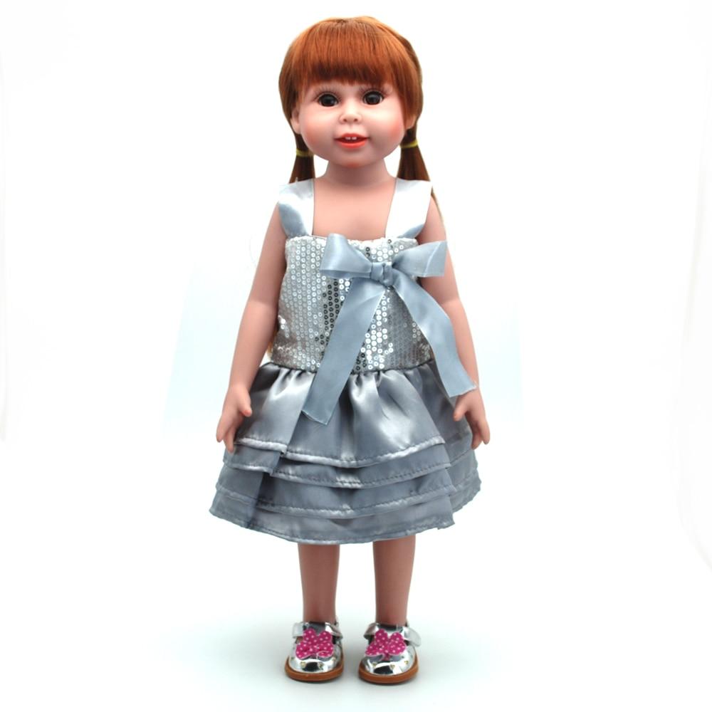 NicoSeeWonder 18 Inch Bonecas Bebe Reborn Baby Dolls Full Silicone Reborn Toddler Toys G ...