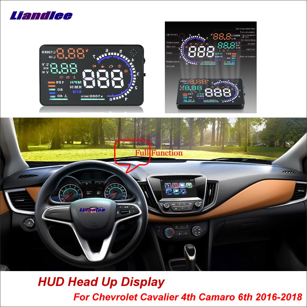 Rechtdoorzee Liandlee Auto Head Up Display Hud Voor Chevrolet Cavalier 4th Camaro 6th 2016-2018 Hd Projector Scherm Overspeed Alarm Detector Geavanceerde TechnologieëN