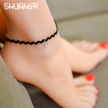 Crochet Black Anklet