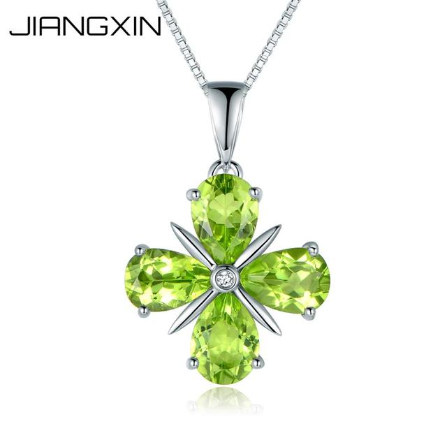 JiangXin Lucky Four Leaf Clover 925 Sterling Silver Jewellery Set nRtE20