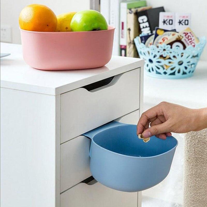 Kitchen Cabinet Creative Semi-circular Hanging Trash Cans Household European-style Uncladable Plastic Storage Box Trash Basket