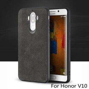 Image 1 - Wangcangli marka wszystkie ręcznie robione oryginalne futro telefon etui na Huawei Honor V10 wygodny w dotyku All inclusive etui na telefon