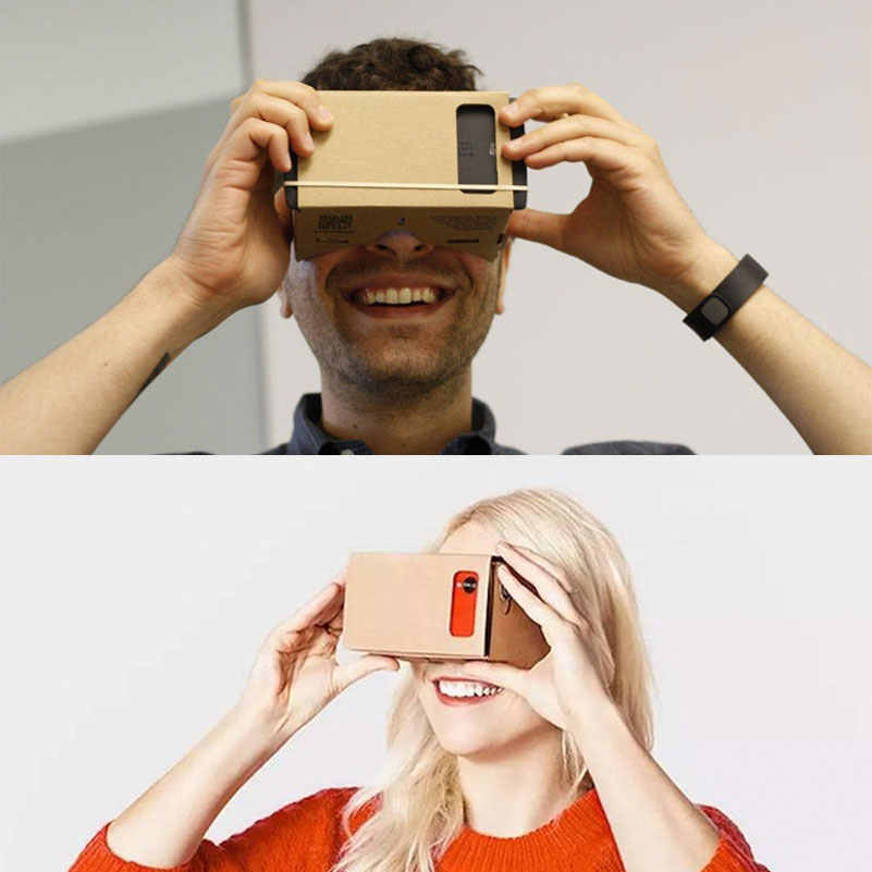 Лидер продаж VR картонные очки 3D очки для Xiaomi Android DIY VR очки коробка для iPhone 5 6 7 смартфонов 3D VR очки
