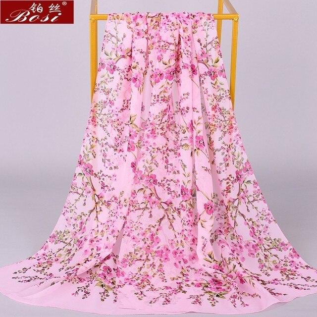 Chiffon scarf winter shawl schal scarves poncho women scarfs ethnic big flower hijab  scarfs luxury ladies retro schal160*60 new 2