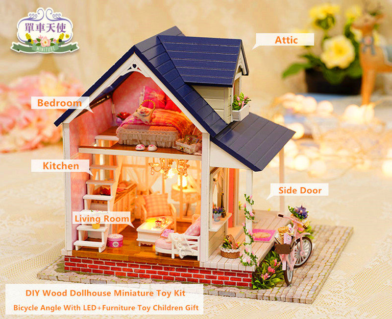 Bicycle Angel DIY 3D Miniature House