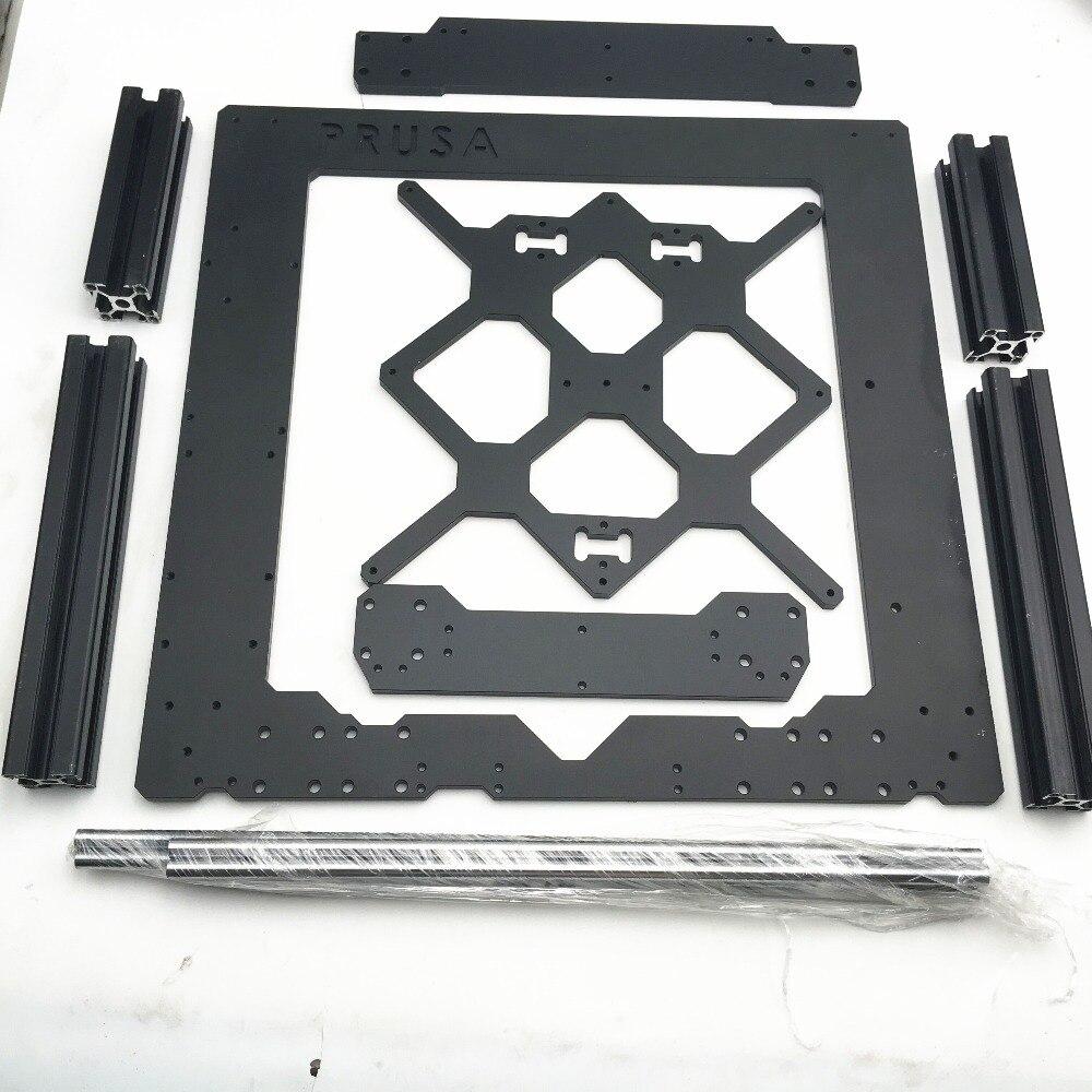 1 ensemble de cadre en alliage d'aluminium Prusa i3 MK3 avec profil et kit de tiges lisses 6mm d'épaisseur Prusa i3 MK3 cadre expédition rapide