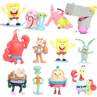 NEW Hot 7 8cm 12pcs Set SpongeBob Pants Collectors Action Figure Toys Christmas Gift Doll