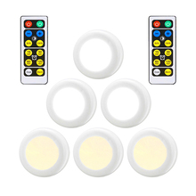 6PCS Led cabinet lamp+2PCS Remote controller Touch sensor Wireless indoor Emergency night light for Wardrobe Stair Hallway
