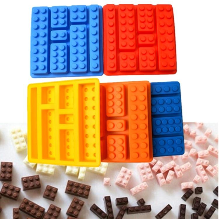 1 pçs lego tipo forma muffin doce doces geléia fondant bolo molde de chocolate silicone ferramenta de cozimento frete grátis