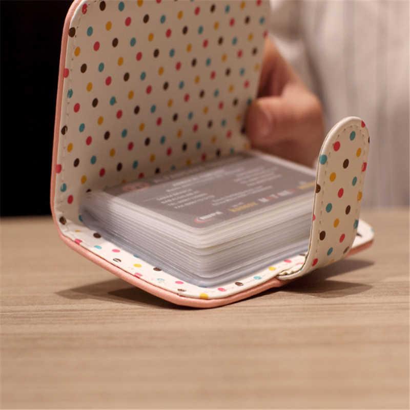 Nuevo patrón Unisex Punto de onda tarjeta de crédito tarjeta bancaria tarjetas de visita billeteras y soportes