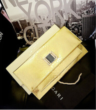 Women Bag Clutch Bag Luxury Crocodile Diamonds Chains Evening Bags High Quality  Bsas Femininas