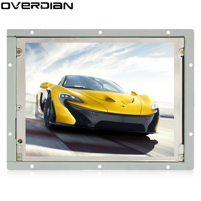 8.4/8 inch Industrial Control Lcd Monitor Vga Interface Metal Shell Open Frame Non-Touch Screen 800*600 4:3 zk080tn 2660 8 inch 1024x768 metal case vga hdmi signal open embedded frame wall hanging industrial monitor lcd screen display