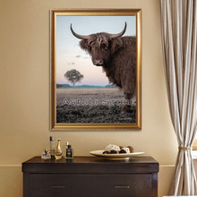 New 5d DIY Diamond Embroide Highland Cow Full square round Diamond Painting Cross Stitch art Diamond Mosaic Nordic pictures(China)