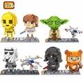 LOZ Star Wars Mini Building Blocks C3PO R2D2 Darth Vader Jedi Yoda Stormtrooper Luke Skywalker Leia Organa Wicket Boba Fett