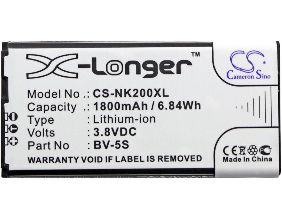 Cameron Sino 1800 mAh Batterie BV-5S pour Nokia RM-1013, X2, X2 Dual SIM, X2D, X2DS
