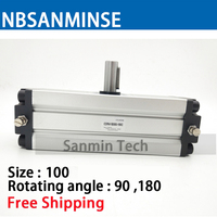 CRA1 Pneumatic Compressed Air Cylinder Rotary Actuator SMC Type Cylinder SMC High Quality Compressed Air Cylinder Sanmin