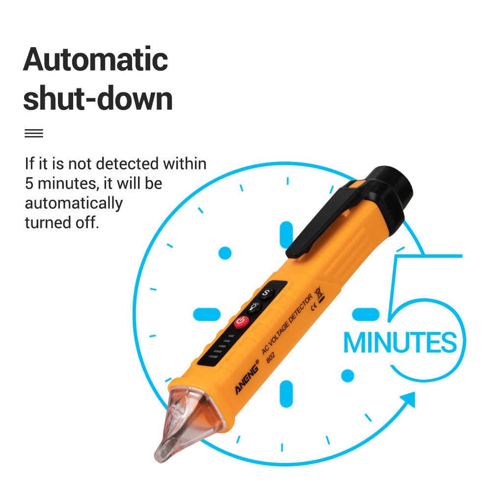 Aneng VD802 Non Contact Voltage Indiacator Ac 12 V-1000 V Voltage Tester Pen Detector Outlet Socket Elektrische Tester voltmeter 2019