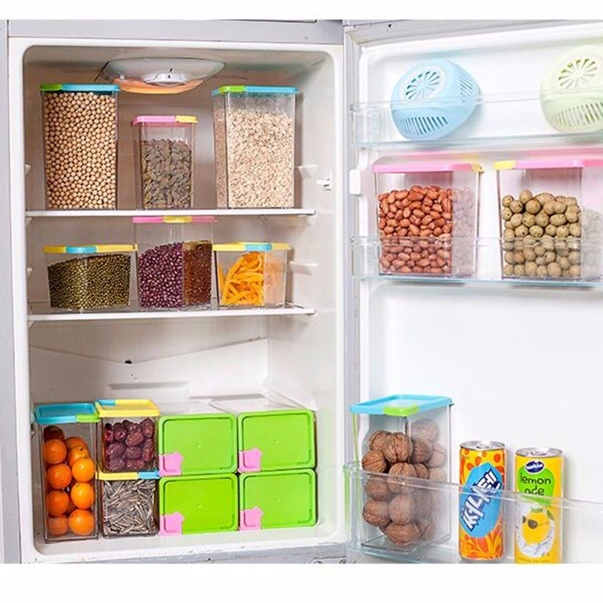 Best Kitchen Gallery: 530 800 1070ml Kitchen Food Storage Box Cereal Grain Bean Holder of Grain Storage Containers Home  on rachelxblog.com