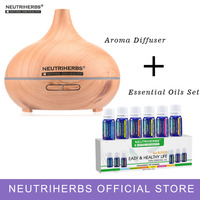 EU Plug Compound Essential Oils And 300ml Aroma Fragrance Diffuser Set For Body Massage Bath Relaxation