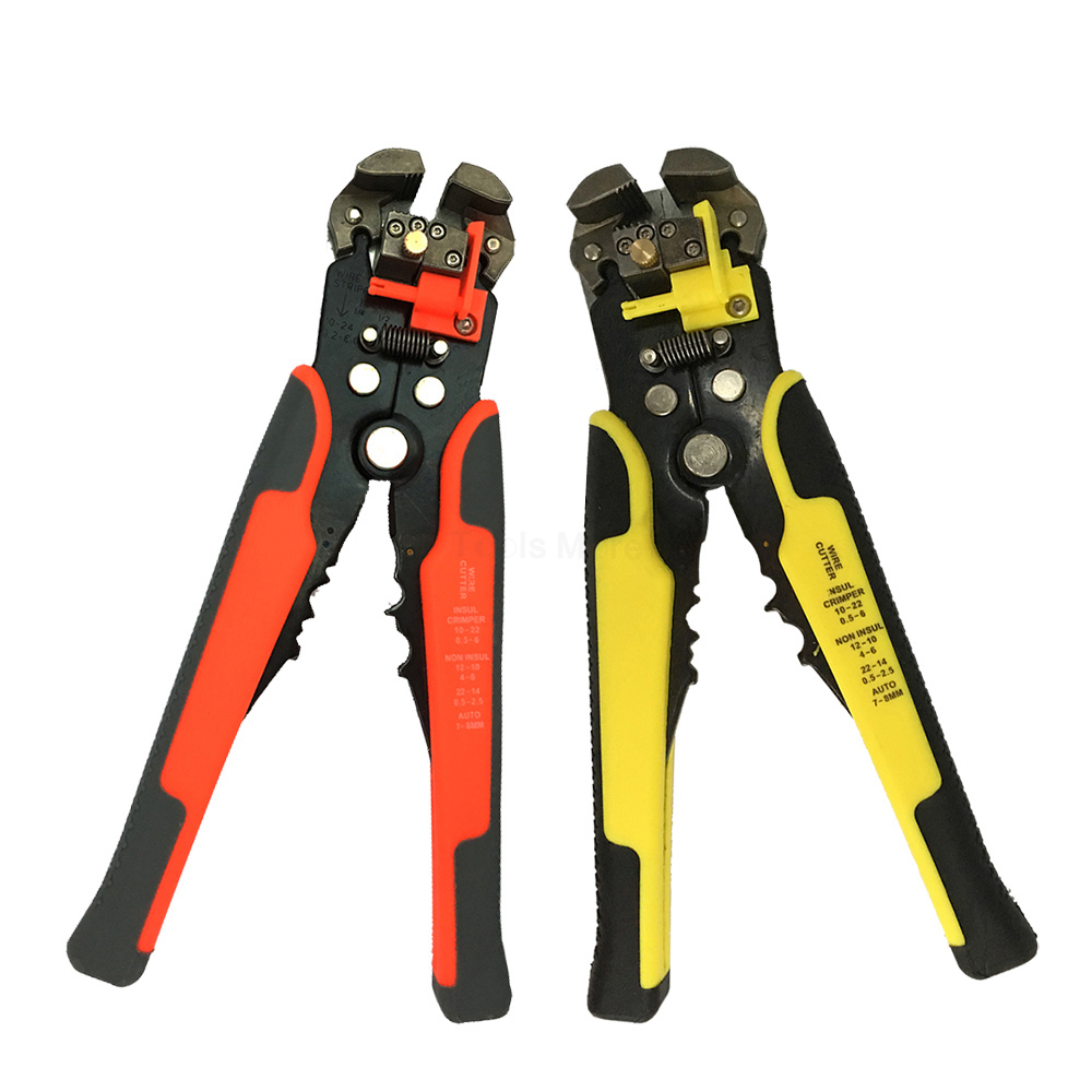 1Pcs 8 Inch Multi Tools 10-24 AWG Stranded Self-adjusting Automatic Cable Wire Stripper Pliers Cable Cutter Crimper Plier Cut