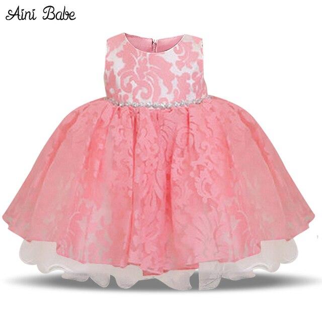 0a8987821b4 Newborn baby girls princess vendimia 1 año fiesta de cumpleaños bautismo  vestido formal dress bow niños