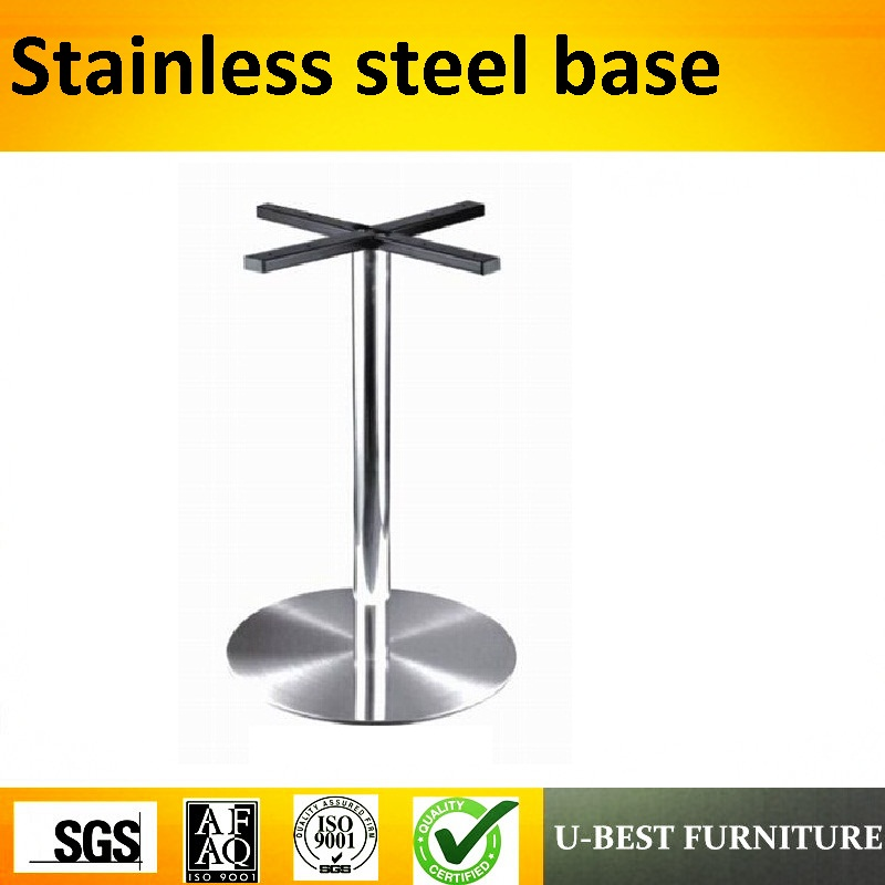 U-BEST Furniture Accessories Stainless Steel Table Base, Brushed Stainless Steel Table Legs