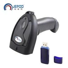 JP-B2 Wireless Laser Barcode Scanner Lector de Código de Barras Inalámbrico de Largo Alcance para POS